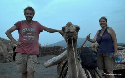 Ethiopië op kameel naar Erta Ale