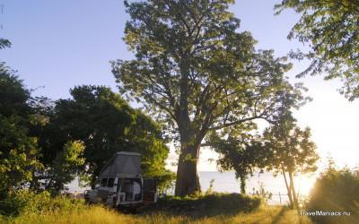 Kamperen bij Floja aan Lake Malawi