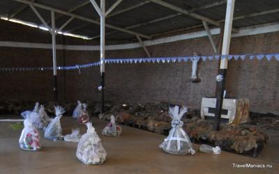 Een van de plekken waar in 1994 in Rwanda gemoord is.