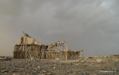 Ethiopië op weg naar vulkaan Erta Ale