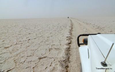 Ethiopië zoutvlakte bij Erta Ale