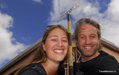 Selfie in de Brabantstraat in Kaapstad.