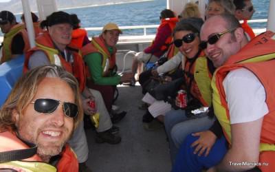 Met de fam op zoek naar walvissen in Hermanus.