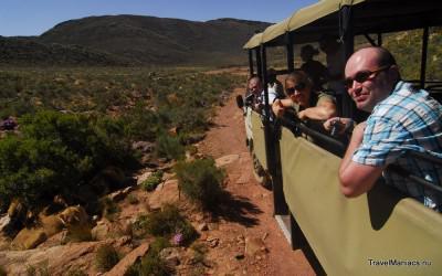 Op zoek naar de big five op Aquila Private Game Reserve.